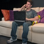 """Ari Lew as Caleb in """"Utility Monster"""" at WHAT (Photo: Michael & Suz Karchmer)"""