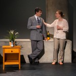 "Marc Carver as Alan & Laure Latreille as Ruth in ""Utility Monster"" at WHAT (Photo: Michael & Suz Karchmer)"