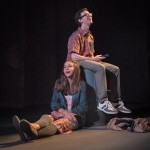 "Lily Flores as Sadie & Ryan Rudewicz as Claude in ""Utility Monster"" at WHAT (Photo: Michael & Suz Karchmer)"