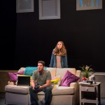 """Ari Lew as Caleb & Lily Flores as Sadie in """"Utility Monster"""" at WHAT (Photo: Michael & Suz Karchmer)"""