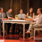"""Marc Carver as Alan, Ari Lew as Caleb, Ryan Rudewicz as Claude, Lily Flores as Sadie, & Laura Latreille as Ruth in """"Utility Monster"""" at WHAT (Photo: Michael & Suz Karchmer)"""
