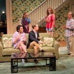 One Slight Hitch 2013 with Christopher Tocco (Ryan), Laura Ashley Carter (P.B. Coleman), Thomas Preece (Harper), Brenda Meaney (Melanie Coleman) and Mark Linn-Baker (Doc Coleman). Photo by Michael and Suz Karchmer