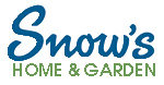 snows home & garden logo WHAT